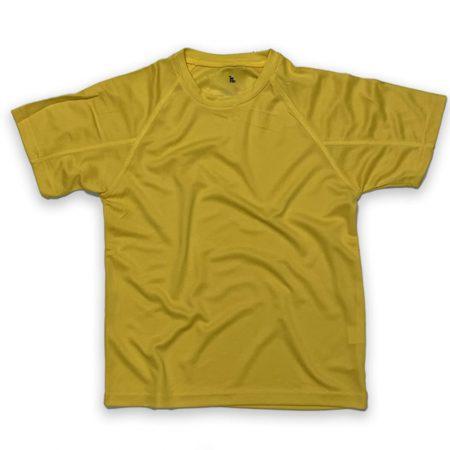 חולצה דרייפיט בצבע צהוב