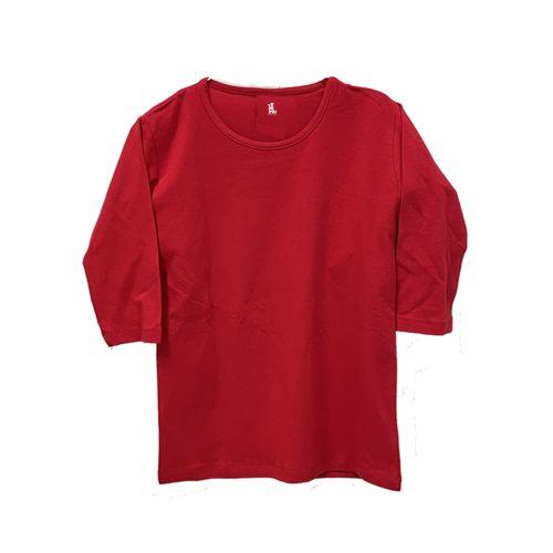 חולצה לייקרה שרוול 3-4 בצבע אדום